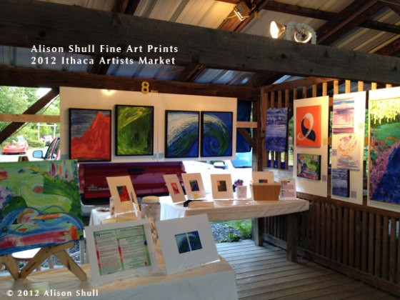 Alison Shull Art at the 2012 Ithaca Artists Market