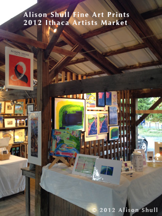 Alison Shull Art at 2012 Ithaca Artists Market