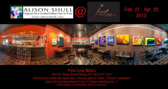 Alison Shull Art at Fine Line Bistro 2013