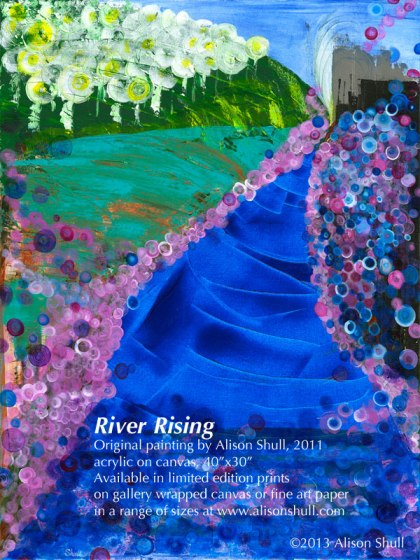 River Rising an original painting by artist Alison Shull
