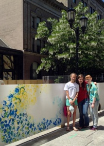 Alison Shull Art on the Ithaca Commons- with Spectators