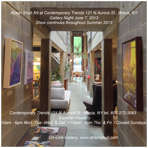 Alison Shull Art at Contemporary Trends Gallery Night June 2013