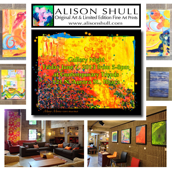 Alison Shull Art at Gallery Night at Contempoary Trends