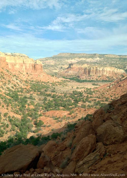 Kitchen Mesa Trail at Ghost Ranch, photograph by Alison Shull