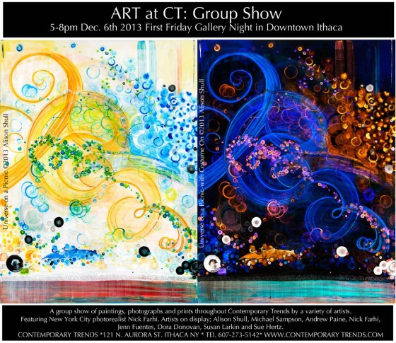 Alison Shull Art at Contemporary Trends - Gallery Night Dec. 6, 2013