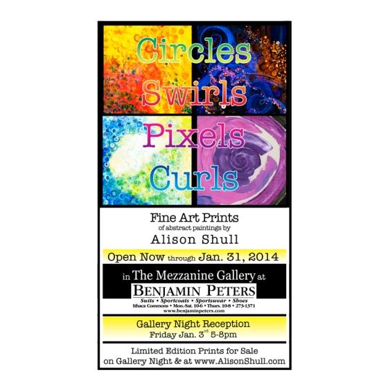 Alison Shull Artshow: Circles Swirls Pixels Curls