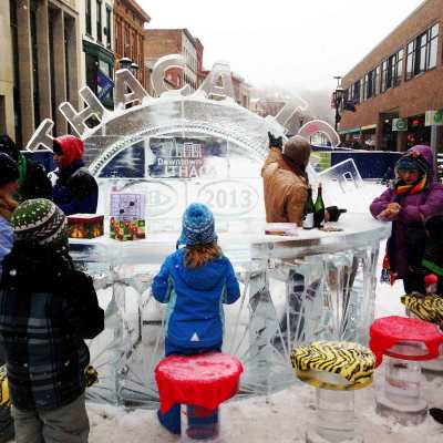 Ice Bar at the 2013 Winter Festival Ithaca NY - photos by Alison Shull