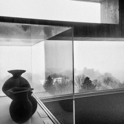 Winter 2014 Ithaca NY - View West from inside Cornell Art Museum - photograph by Alison Shull